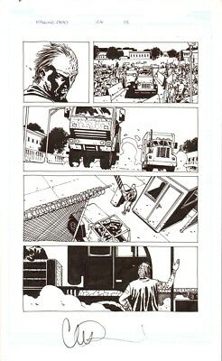 THE WALKING DEAD   ORIGINAL ART CHARLIE ADLARD 104p15 Dwight, Negan and the rest