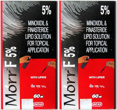 2 Pack Morr F5% Hair Regrowth FDA Approved 60 ML Each -FREE SHIPPING