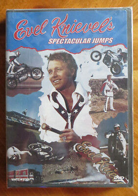 """EVEL KNIEVEL """"Spectacular Jumps"""" DVD-Created by White Star Video-Made in the USA"""