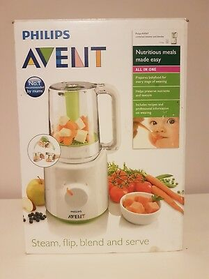 Philips Avent Combined Steamer And Blender 2 In 1 Healthy Baby Food Maker - New