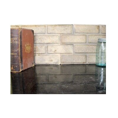 Brick Shaped Wall Ceiling Panels PAIR Sheets Antique Style Stamped Pressed Tin