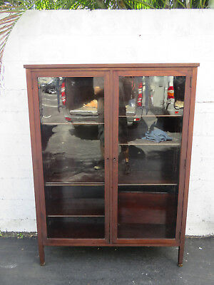 Large Bookcase Display shelves Cabinet with Glass Front by Berkley and Gay 8818