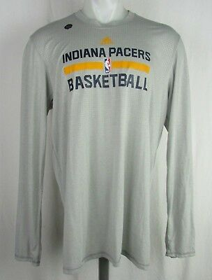 on sale c3964 72642 ADIDAS INDIANA PACERS Gray Long Sleeve Shirt NBA (XLT)