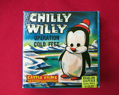 Vintage 8mm CHILLY WILLY Operation Cold Feet Movie Castle Films Reel No. 548