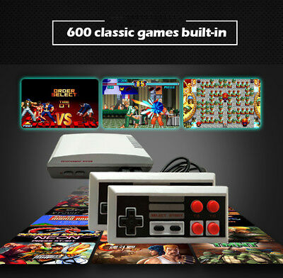 600 Games in 1 Classic Retro TV HDMI Gamepads Mini Game Console w/ 2 Controllers