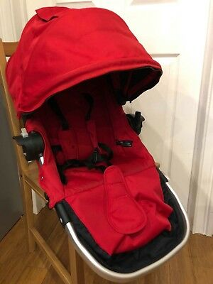 Second Seat City Select baby Jogger Silver Frame and Red + snack tray