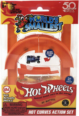 Worlds Smallest Hot Wheels Curve & Jump Set - Worlds Smallest (Toy New)