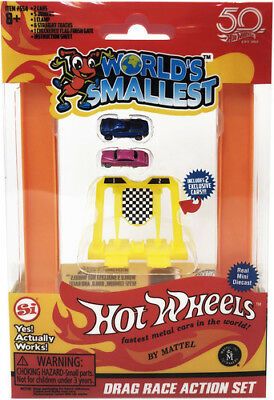 Worlds Smallest Hot Wheels Drag Race Set - Worlds Smallest (Toy New)