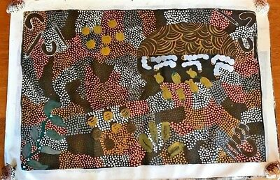 Jorna Newberry  Aboriginal Art Painting Canvas  Early Work