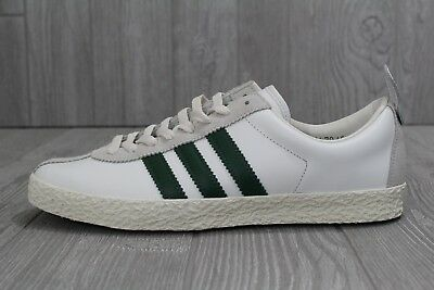 0617d5fe42d 28 New Adidas Trainer SPZL Supcol Dark Green White Leather PRM Sz 9 9.5  BA7877