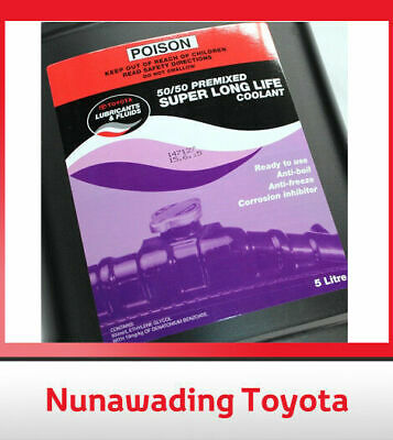 New Genuine Toyota Super Long Life Coolant Anti Freeze Anti Boil 5L Bottle