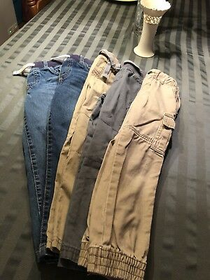 Carters Pants Lot Of 5 PAIRS BOYS SIZE 5 GUC