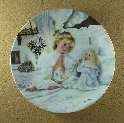 Small Blessings NOW I LAY ME DOWN TO SLEEP Plate #1 Knowles Victorian Girl Doll