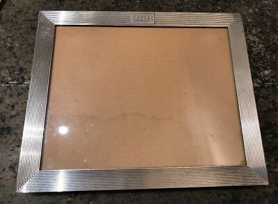 """CARTIER Signed Antique STERLING SILVER STANDING PICTURE FRAME 7 1/2 X 6 1/4"""""""