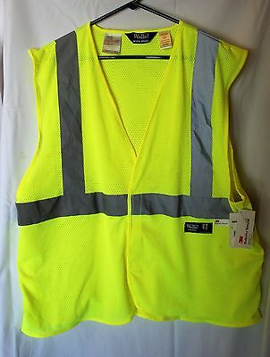 Walls Work Wear High Visi Yellow 3M Reflective Safety Vest Ansi Class 2 Large