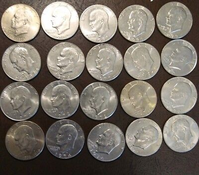 "Mixed Lot of 20 Eisenhower ""IKE"" Dollar Coins!"