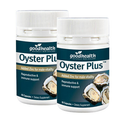x 2 (twin pack of 2x60 ) Good Health - Oyster Plus Added Zinc for male vitality