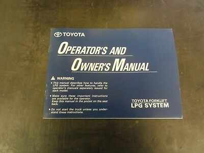 toyota forklift operator s and owner s manual see pictures for rh picclick com toyota forklift operators manual pdf toyota forklift operators manual 8fbcu20