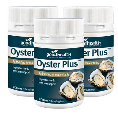 x3 (tripple pack of 3x60 ) Good Health -Oyster Plus Added Zinc for male vitality