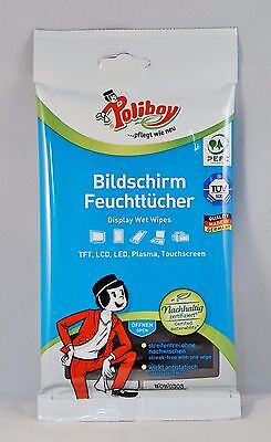 poliboy DUSTMASTER Flat Screen Wet Wipes 30 Towels Cleaning Cloths