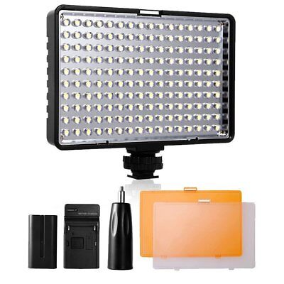 LED Video Light, SAMTIAN [Rechargeable Battery Included] Camera Panel Light with