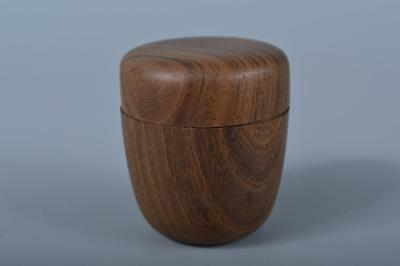 J9800:Japanese Wooden SMALL TEA CADDY Natsume Chaire for Gyokuro Tea Ceremony