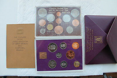 UK Proof Set 1970 and Last Pre-decimal coins 1967 and Decimal coins 1968-74