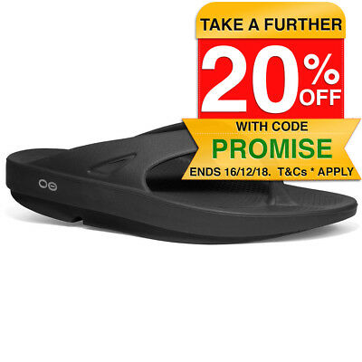 OOFOS OOriginal Black Thongs/Shoes Arch Support/Waterproof - Size US M14 W16