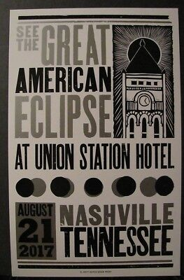 The Great American Eclipse Hatch Show Print August 21, 2017 Union Station Hotel