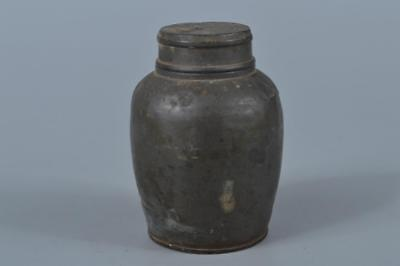 K7122: Japanese Old Tin TEA CADDY Chaire Container Tea Ceremony