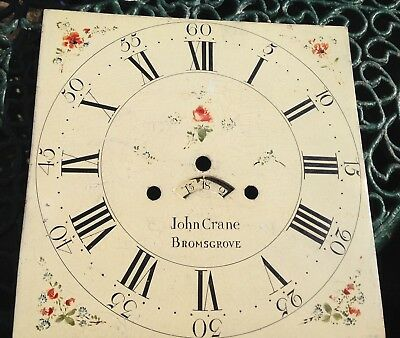 A Twelve Inch Painted Dial For Grandfather Clock