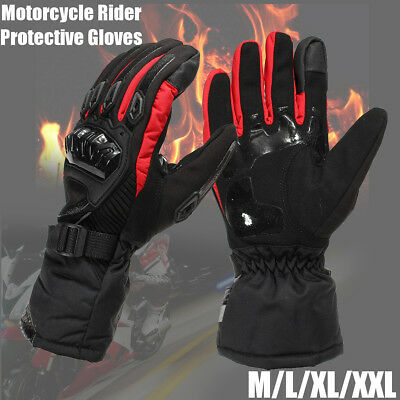 Bicycle Motorcycle Rider Protective Gloves Touch Screen Winter Warm Waterproof