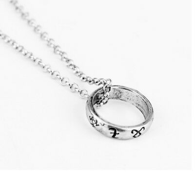 The Mortal Instruments City Of Bones Magical Rune Ring Necklace & Gift Bag