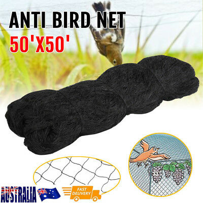 Knitted Anti Bird Netting Black -15 x 15M Commercial Pest Netting Black AU Stock