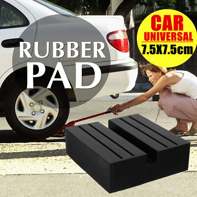 7.5cm Car Universal Rubber Slotted Pad Lift Trolley Jacking Block Guard Adapter