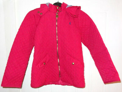 Joules Girls Paddock Coat Hooded Ruby Bright Pink 11 - 12 years