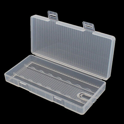 Portable Hard Plastic Battery Clear Case Holder Storage Box for 8  AA Battery&L