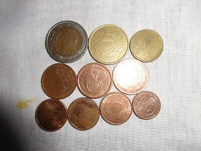 Set of different Euro coins!!!