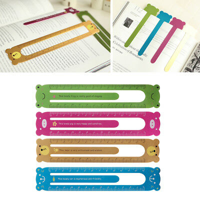Animal Cartoon Metal Paper Clip Ruler Office School Supplies Stationery For Kid