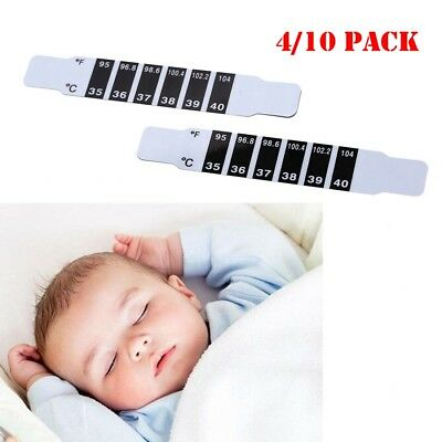 Forehead Thermometer Strip Fever Cold Baby Kids Adult Check Test Temperature Lot