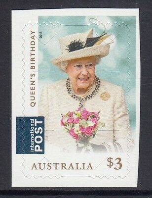 AUSTRALIA 2018 - QUEEN'S BIRTHDAY $3 single P&S Self Adhesive  MNH - Royalty