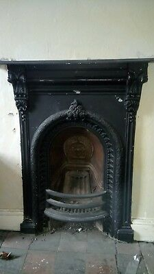 Antique fireplaces cast iron x2