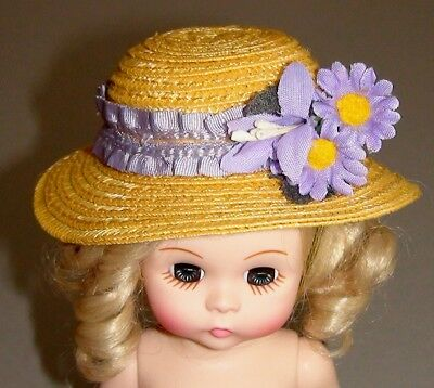 "Madame Alexander 8"" Doll Hat -Original Dress Outfit -Beautiful - Spring - Summer"