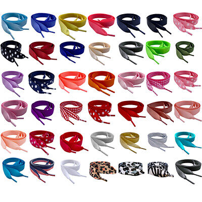 8bddbd36f3e491 White   Colour Ribbon ShoeLaces Laces for Lo   Hi Top Sparkly Blinged  Trainers