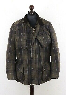 BARBOUR Men's Tartan International Waxed Jacket size XL Without Belt ! Authentic