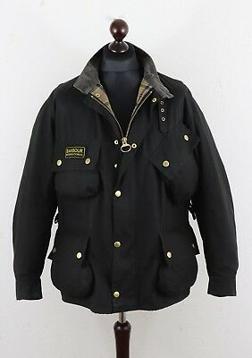 BARBOUR Men's International Waxed Cotton Jacket size 44 Without Belt ! Authentic