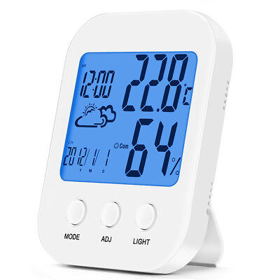 LCD Alarm Clock Time Temperature Display Bedside Multi-funtion Electronic NEW