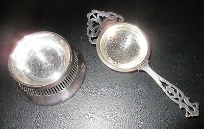 Silver plated 2pc Tea stainer Regis Plate EPNS  no46 Made in england
