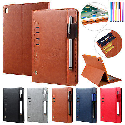 For iPad 6th/5th Gen 9.7 2018/2017 PU Leather Wallet Card Slots Stand Case Cover