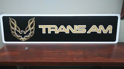 "Trans Am Pontiac Logo Aluminum Sign  6"" x 24"""